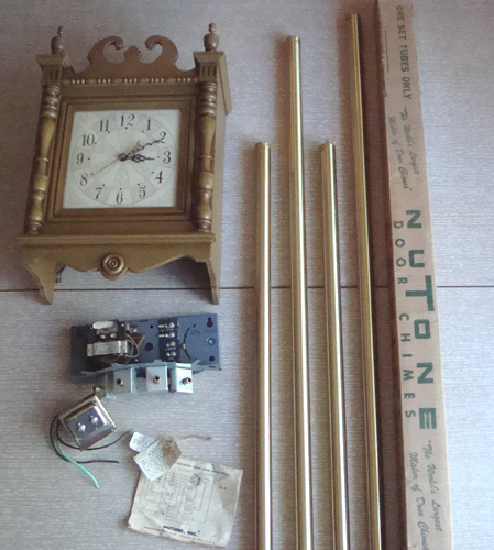 vintage nos nutone telechron mid century wall clock doorbell door chimes ebay