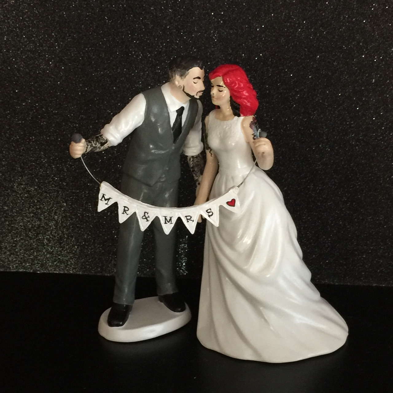 Personalized Tattooed Wedding Cake Topper