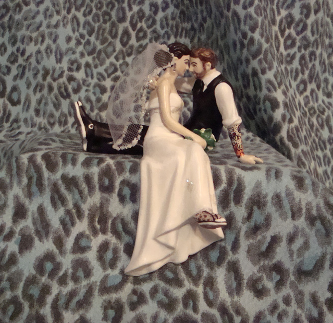 Tattooed Groom Cake Topper with Converse