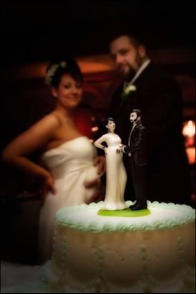 Tattooed and Expecting Wedding Cake Topper