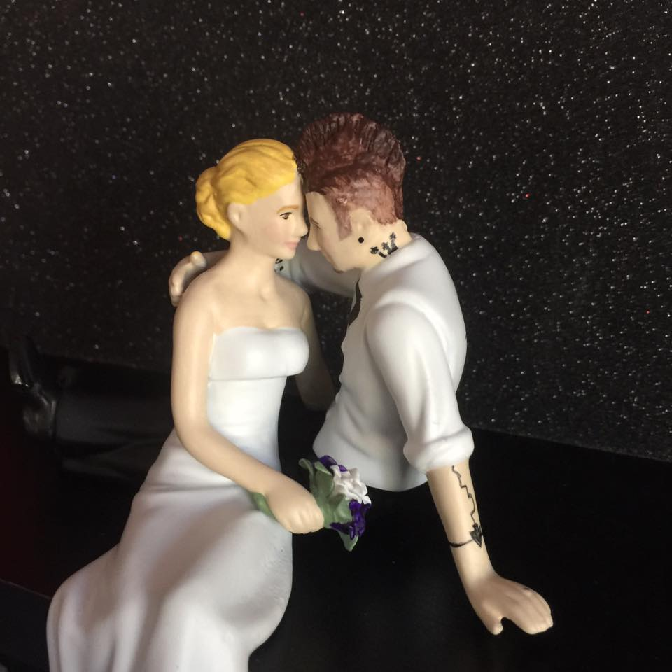 Custom Cake Topper with Mowhawk